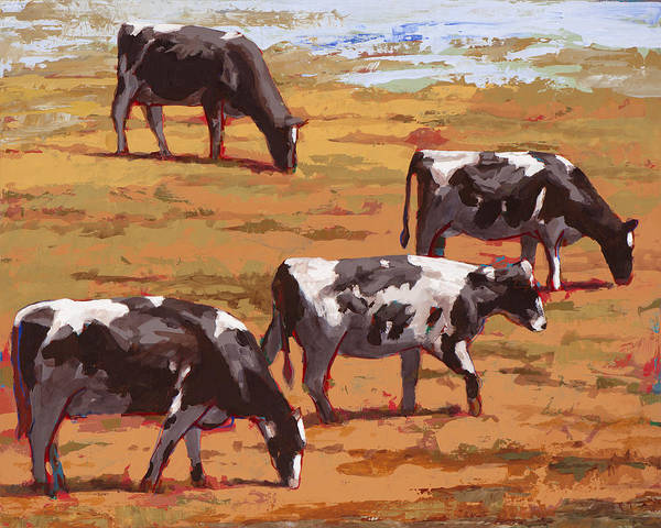 Cows Wall Art - Painting - People Like Cows #10 by David Palmer