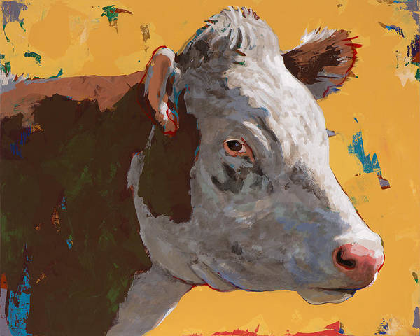 Farm Animals Painting - People Like Cows #7 by David Palmer