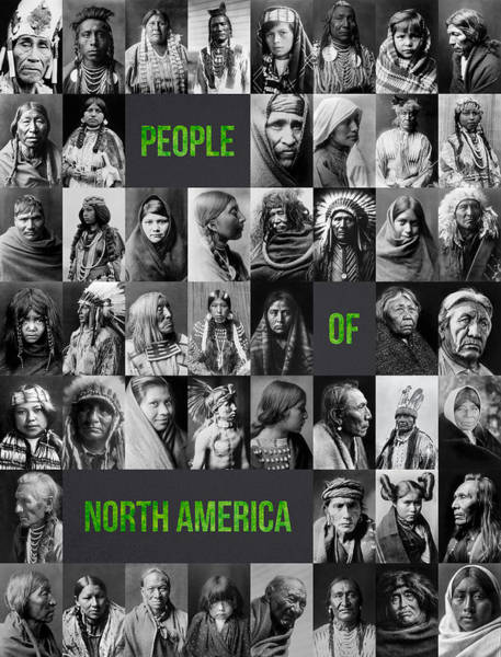 Wall Art - Photograph - People Of North America by Aged Pixel