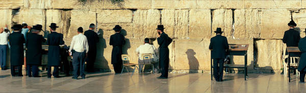 Wall Art - Photograph - People Praying At Wailing Wall by Panoramic Images