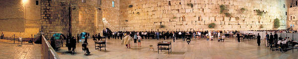 Wall Art - Photograph - People Praying In Front Of The Western by Panoramic Images