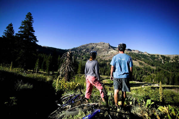 Workout Photograph - People Riding Mountain Bikes by Jay Reilly