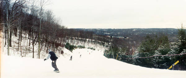 Catskill Photograph - People Skiing And Snowboarding by Panoramic Images