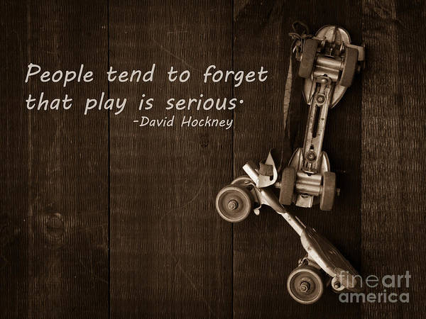 Wall Art - Photograph - People Tend To Forget That Play Is Serious by Edward Fielding