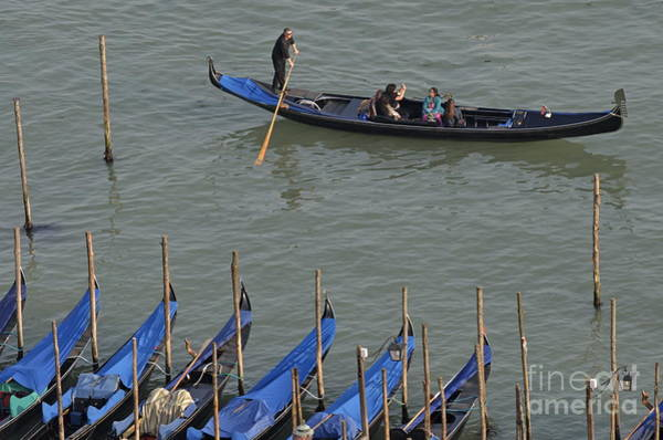 Wall Art - Photograph - People Touring Venice In Gondola by Sami Sarkis