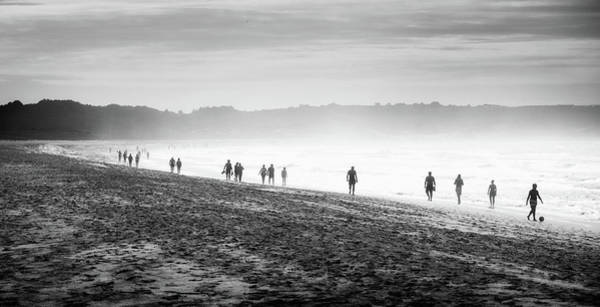 Galicia Photograph - People Walking On The Beach by Ramón Espelt Photography