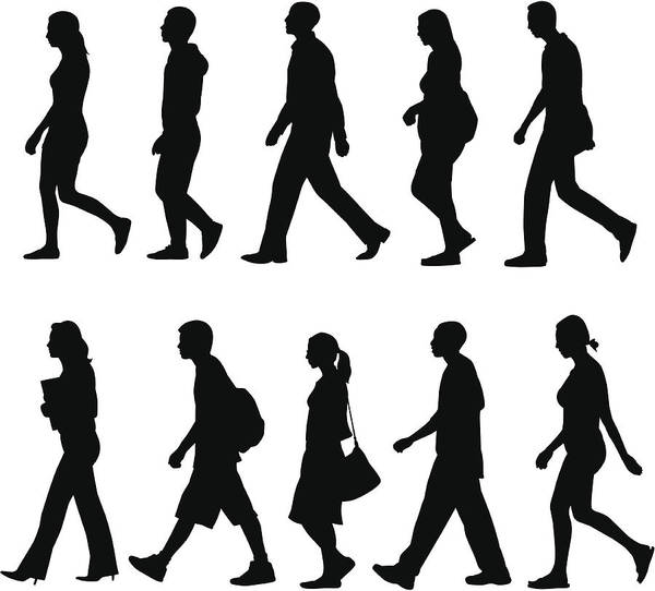 People Walking Art Print by Rangepuppies