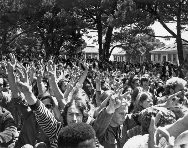 Photograph - People's Park Rally by Underwood Archives