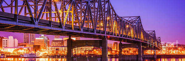 Baker Photograph - Peoria Illinois Bridge Panoramic Picture by Paul Velgos