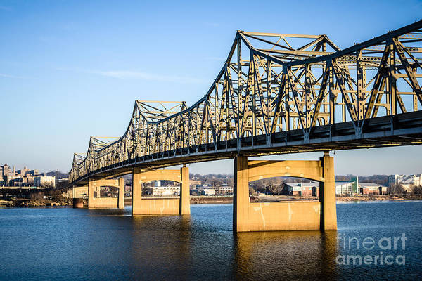 American Steel Photograph - Peoria Murray Baker Bridge In Illinois by Paul Velgos