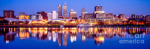 Wall Art - Photograph - Peoria Skyline At Night Panorama Photo by Paul Velgos