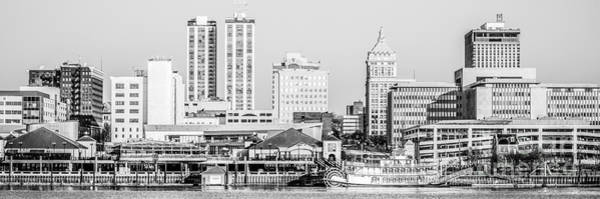 Wall Art - Photograph - Peoria Skyline Panorama Black And White Picture by Paul Velgos