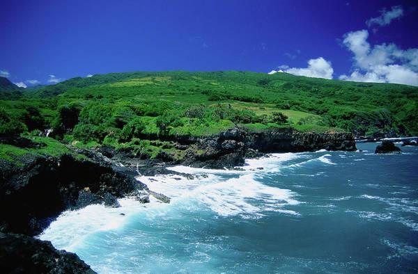 Maui Photograph - Pepeiaolepo Bay And The Hana Coastline by Ann Cecil