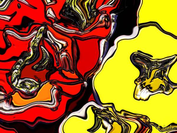 Digital Art - Pepper Time Abstract by Alec Drake