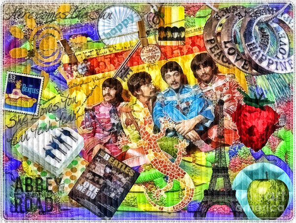 Retro Paris Painting - Pepperland by Mo T