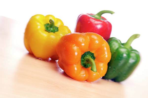Bell Peppers Photograph - Peppers by Daniel Sambraus/science Photo Library