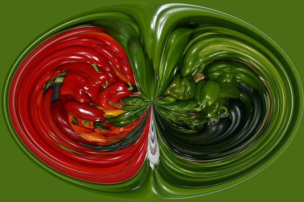 Photograph - Peppers by Jim Baker