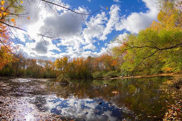 Pequotsepos Duck Pond Reflection   Art Print