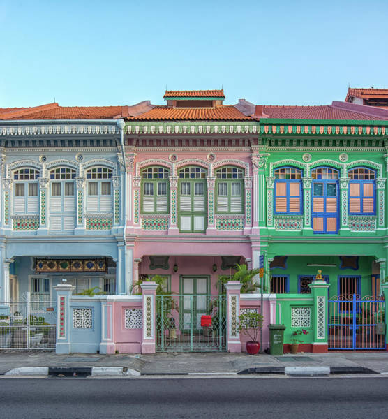 Sunny Photograph - Peranakan Architecture by Edward Tian