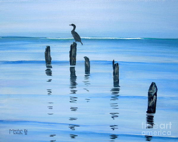Painting - Perched At Dusk by Marilyn  McNish