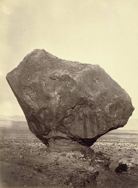 Wall Art - Drawing - Perched Rock, Rocker Creek by Litz Collection