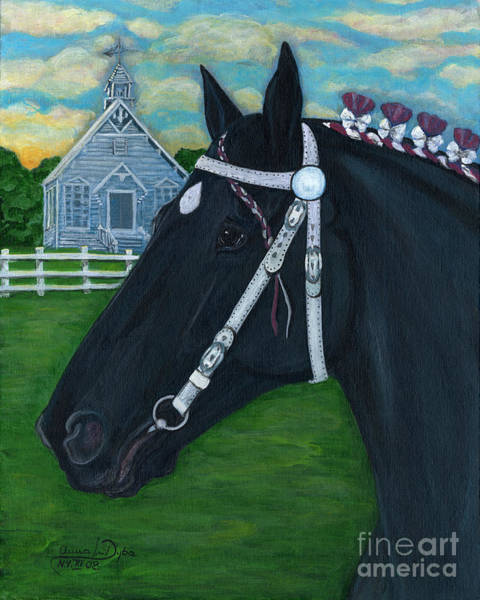 County Fair Painting - American Percheron--the Dutchess County Fair by Anna Folkartanna Maciejewska-Dyba