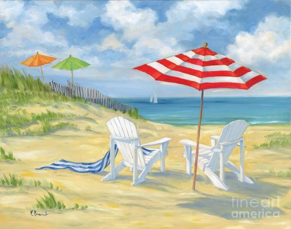Adirondack Chair Wall Art - Painting - Perfect Beach by Paul Brent