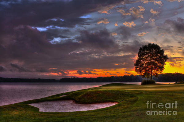 Photograph - Perfect Golf Sunset In Reynolds Plantation by Reid Callaway