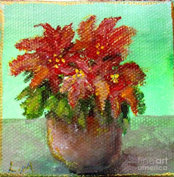 Painting - Perfect Poinsettias by Laurie Morgan