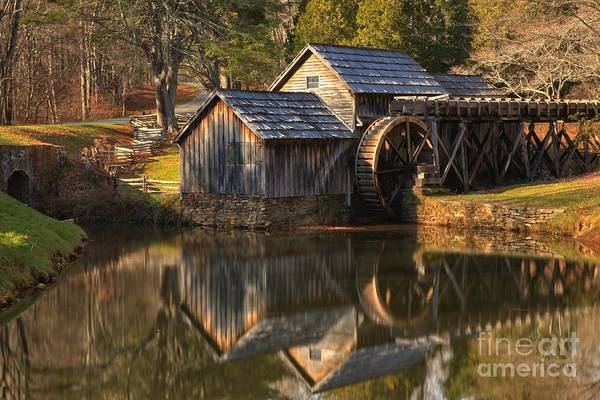 Photograph - Perfect Reflections Of Mabry Mill by Adam Jewell