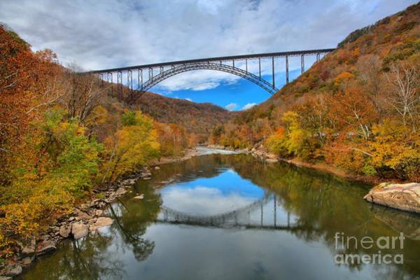 Photograph - Perfect Reflections Of The New River Gorge Bridge by Adam Jewell