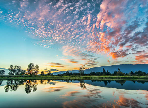 Alouette Wall Art - Photograph - Perfect Sunset Clouds by James Wheeler