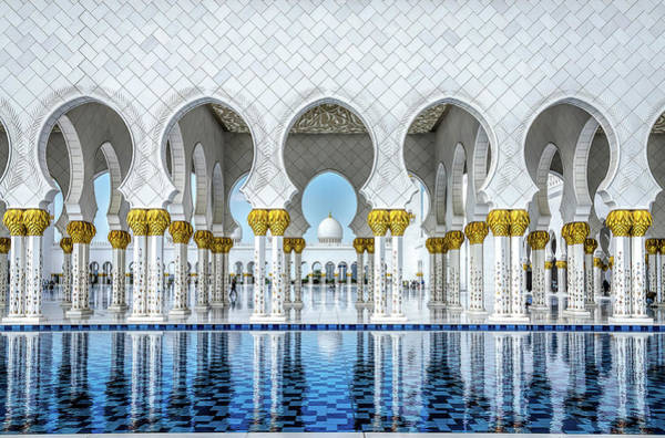 Mosque Photograph - Perfect Symmetry by Athos K. Florides