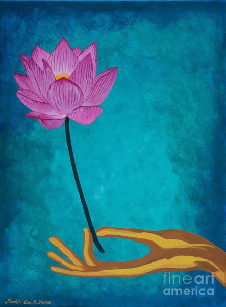 Compassion Painting - Wisdom Flower by Mindah-Lee Kumar