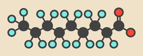 Wall Art - Photograph - Perfluorononanoic Acid Molecule by Molekuul/science Photo Library