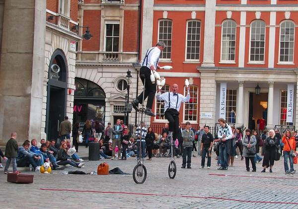 Photograph - Performers At Covent Garden by Keith Stokes