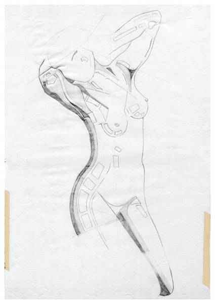 Drawing - Perfume Of Venus - Homage Rodin by David Hargreaves