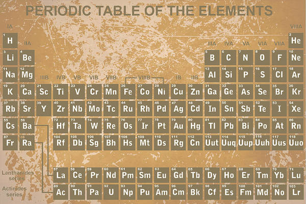 Digital Art - Periodic Table Of The Elements - 3 by Paulette B Wright