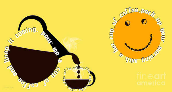 Digital Art - Perk Up With A Cup Of Coffee 13 by Andee Design