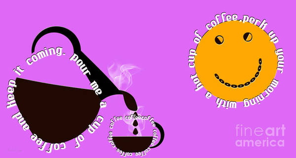 Digital Art - Perk Up With A Cup Of Coffee 7 by Andee Design