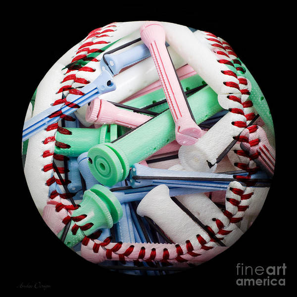 Photograph - Perm Rods Baseball Square by Andee Design