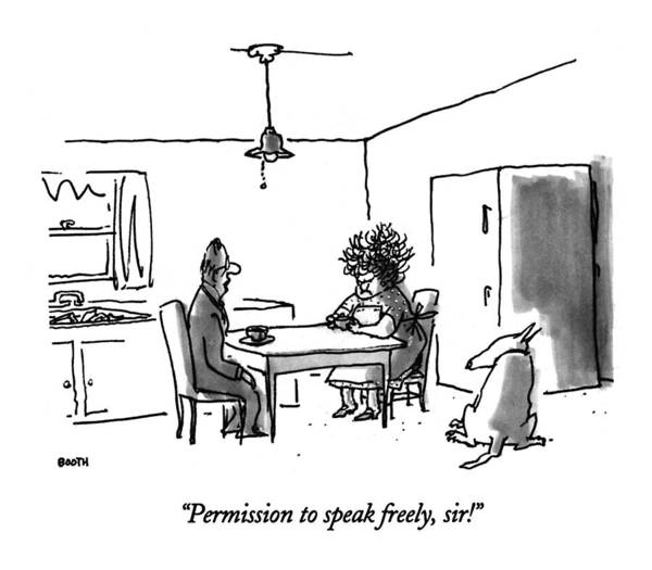 Drawing - Permission To Speak Freely by George Booth