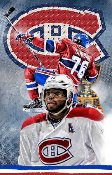 Montreal Canadiens Digital Art - Pk Subban Phone Cover by Nicholas Legault