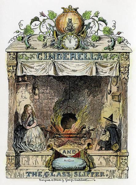 1854 Drawing - Perrault Cinderella, 1854 by Granger