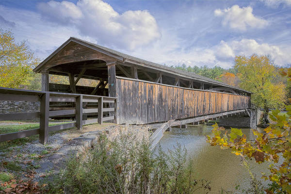 Photograph - Perrine's Covered Bridge by Joan Carroll