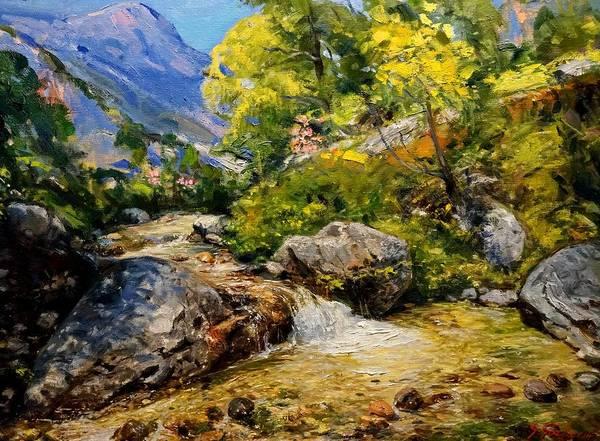 Painting - Perroi I Vogel I Vunoit by Sefedin Stafa