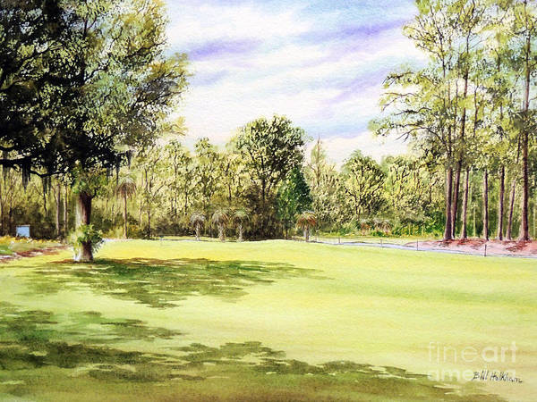 Country Club Painting - Perry Golf Course Florida  by Bill Holkham