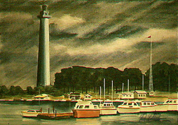 Perrys Monument On Put In Bay Art Print