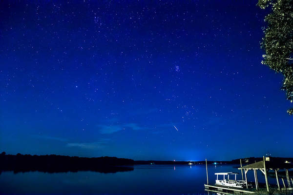 Photograph - Perseid Meteor by Charles Hite