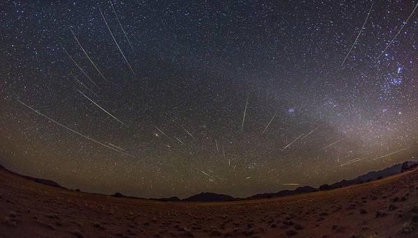 Perseid Wall Art - Photograph - Perseids Meteor Shower by Juan Carlos Casado (starryearth.com) / Science Photo Library